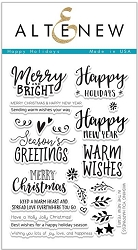 Altenew - Clear Stamps - Happy Holidays