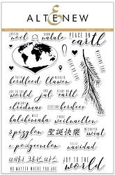 Altenew - Clear Stamps - Peace on Earth