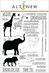 Altenew - Clear Stamps - Baby Zoo
