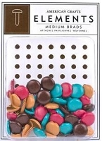 American Crafts - Medium Brads - Library  Assortment