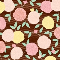 American Crafts - Dear Lizzy Apricot Afternoon Adhesive Backed Fabric Paper