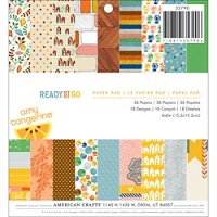 American Crafts - Ready Set Go - 6x6 Pad