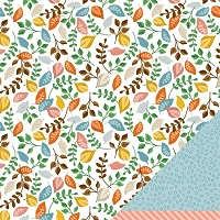 American Crafts - Amy Tangerine - Ready Set Go - 12x12 Double Sided Cardstock Sheet - Afternoon Delight