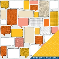 American Crafts - Amy Tangerine - Ready Set Go - 12x12 Double Sided Cardstock Sheet - Think Good Thoughts