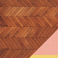 American Crafts - Amy Tangerine - Ready Set Go - 12x12 Double Sided Cardstock Sheet - Coffee Break