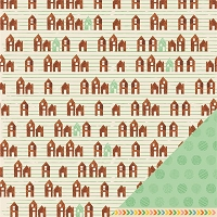 American Crafts - Amy Tangerine - Ready Set Go - 12x12 Double Sided Cardstock Sheet - Get Cozy