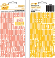 American Crafts - Amy Tangerine - Ready Set Go Remarks Stickers - Baxter (Pink/Yellow)