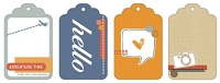 American Crafts - Amy Tangerine - Ready Set Go - Decorative Tags 4/Pkg