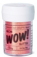 American Crafts - Wow! Glitter - Extra Fine - Neon Cherry