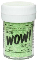 American Crafts - Wow! Glitter - Extra Fine - Neon Grass
