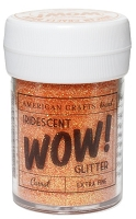 American Crafts - Wow! Glitter - Extra Fine - Iridescent Carrot