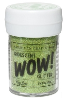 American Crafts - Wow! Glitter - Extra Fine - Iridescent Key Lime
