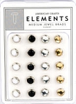 American Crafts Medium Jewel Brads - Elegant