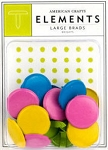American Crafts Large Brads - Brights