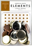 American Crafts Large Brads - Metallic