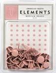 American Crafts Medium Brads - Blush