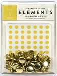 American Crafts Medium Brads - Gold