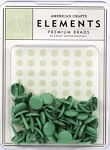 American Crafts Medium Brads - Shamrock