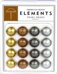 American Crafts Pearl Brads - Metallic