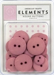 American Crafts Buttons - Bubblegum