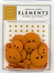 American Crafts Buttons - Carrot