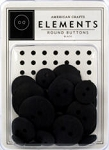 American Crafts Buttons - Black