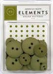 American Crafts Buttons - Olive