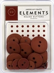American Crafts Buttons - Cranberry