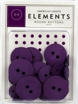 American Crafts Buttons - Grape