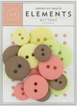 American Crafts Buttons - Letterbox Assortment