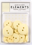 American Crafts Buttons - Vanilla