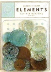 American Crafts Glitter Buttons - Baby Boy