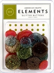 American Crafts Glitter Buttons - Earthtones