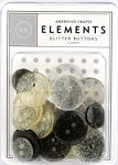 American Crafts Glitter Buttons - Elegant