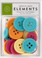 American Crafts - City Park Collection - Assorted Buttons