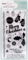 American Crafts - Dear Lizzy Christmas Collection - Clear Stamps - Christmas Wishes