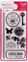 American Crafts - Dear Lizzy Enchanted Collection - Clear Stamps - Bellflower