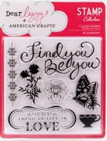 American Crafts - Dear Lizzy Enchanted Collection - Clear Stamps - Blackberry