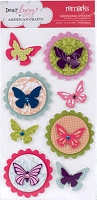 American Crafts - Dear Lizzy Enchanted Collection - Layered Stickers - Remarks - Piccolo
