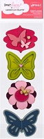 American Crafts - Dear Lizzy Enchanted Collection - Dimensional Vinyl Layered Stickers - Hyacinth