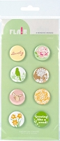 American Crafts - Flair Adhesive Badges - Lovely