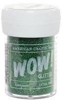 American Crafts  - WOW! Glitter - Extra Fine - Evergreen