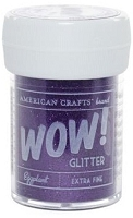 American Crafts  - WOW! Glitter - Extra Fine - Eggplant