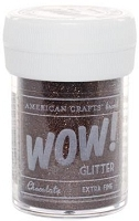 American Crafts  - WOW! Glitter - Extra Fine - Chocolate