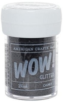 American Crafts  - WOW! Glitter - Chunky - Black