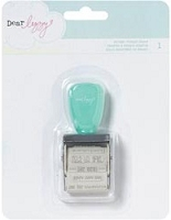 American Crafts - Lucky Charm Collection - Dear Lizzy -  Roller Stamp - 12 Phrases