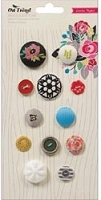 Crate Paper - On Trend Collection - Brads & Buttons