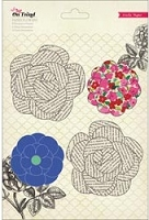 Crate Paper - On Trend Collection - Paper Flowers 4/Pkg