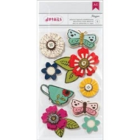 American Crafts - Soho Garden Collection - Layered Embellishments