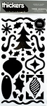 American Crafts Thickers Foil Stickers - Tinsel Accents Black Metallic